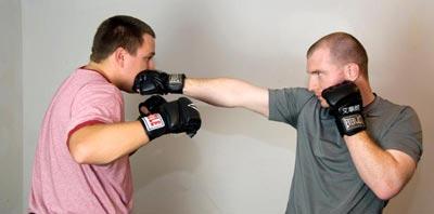 勾拳(hook) vs 刺拳